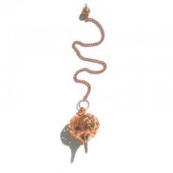 Pendule  métal ciselé cuivré