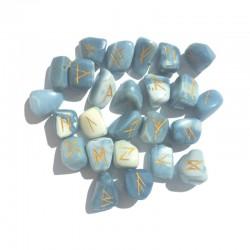 Jeu de runes en  Opale bleue